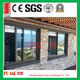 Doble Acristalamiento de vidrio templado de aluminio puertas y ventanas correderas