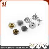 Botón redondo individual del broche de presión del diente del metal de los accesorios de la ropa para los pantalones