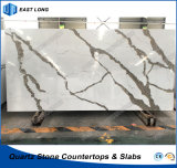 SGS 보고 (Calacatta)를 가진 싱크대 탁상용을%s 인공적인 석영 돌 건축재료