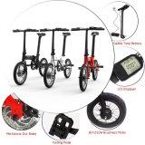 Mini Portable de 16 polegadas que dobra a bicicleta elétrica com bateria de Hiden