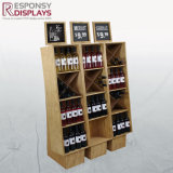 Suporte de Vinho Madeira maciça de vinho de garrafas de vidro painel de exibição