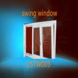 二重絶縁ガラスUPVCはWindowsを傾け回す
