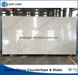 Quarz-feste Steinoberfläche für KücheCountertop mit Qualität (Carrara-Weiß)
