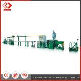 Linha de produtos automática da máquina da extrusora do cabo distribuidor de corrente da maneira dobro da linha central