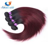 Ombreのペルーのバージンの毛のまっすぐなOmbreの人間の毛髪