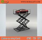 Carro elevador de tesoura do porão para carro Estacionamento fácil