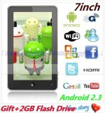 7 pouces Telechip Haipad M701r 8902 Android 2.3 MID Tablet PC 512 MB/4Go WiFi/HDMI(Multi-Touch NS-639