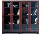 Governo di archivio di legno antico dell'ufficio con le forniture di ufficio di vetro del guardaroba dell'ufficio di Excutive del portello (AG-04)