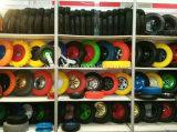 4.00-8 외바퀴 손수레를 위한 PU 거품 바퀴 타이어 편평한 자유로운 타이어