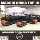 Couro genuíno L sofá da forma (Lz1488-1)