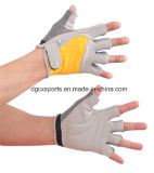 Gymnastik-Sport-Handschuh mit dem halben Finger