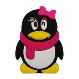 Teléfono de pingüinos de la Funda de silicona para el iPhone 4S (TX-SC0035)