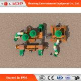 Glissière drôle en bois extérieure commerciale de cour de jeu d'enfants (HD-MZ035)