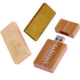 선전용 선물 주문 로고는 나무로 되는 USB 섬광 드라이브를 새겼다