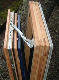 Design europeu Janela de madeira revestido de alumínio para Villa