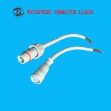 Водонепроницаемого 2 контактный разъем низкого напряжения с помощью кабеля