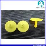 고품질 TPU 125kHz 노란 가축 ID 꼬리표