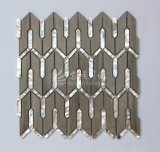 2017新しいデザインシェルの組合せの大理石のモザイク建築材料