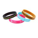 Debossed personalizados pulseiras de Silicone cheio de tinta com o logotipo personalizado / Pulseiras de Silicone qualquer pedido mínimo/ barato o logotipo personalizado pulseiras de Silicone