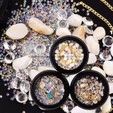 2017 형식 작풍 못 예술 훈장 못 Accessoires를 위한 혼합 못 결정 모조 다이아몬드 구슬 DIY 3D 못 보석함 아름다움