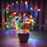 RGB färben kupferner Draht-Weihnachtszeichenkette flexibel