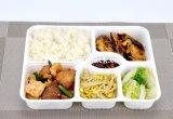 Fach-Plastikmittagessen-Kasten des Weiß-6 für Takeaway