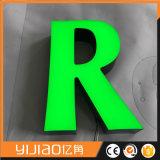 muestra de la carta del escaparate de la publicidad al aire libre 3D