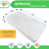 Fodera per materassi organica della greppia del bambino del cotone e coperchio della fodera del rilievo