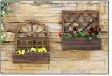 Plantador de madera del jardín al aire libre/crisoles de flor al por mayor/rectángulo a granel de madera de la flor