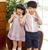 Kundenspezifisches Jungen-und Mädchen-Schuluniform-Klage-Sommer-Kindergarten-Schuluniform-Kleid