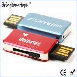 Mecanismo impulsor del USB del libro del resbalón del metal con UDP negro del coloide (XH-USB-181)