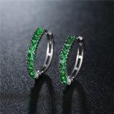 중국 도매 AAA CZ는 여자 굴렁쇠 귀걸이 고급장교 보석을%s 보석을 모양 짓는다