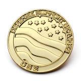 La novedad de esmalte chapado en oro de regalo con moneda de la escultura abstracta de animales