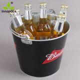 손잡이와 오프너를 가진 주문 둥근 직류 전기를 통한 인쇄된 5qt 바 금속 얼음 양동이 맥주 냉각기