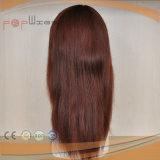 Parrucca rossa piena delle donne del merletto dei capelli umani (PPG-l-01676)
