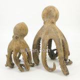Decoração pequena artificial da escultura do artesanato da resina do polvo do tamanho