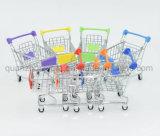 OEMの装飾のための小型金属のスーパーマーケットのショッピングトロリーカートのクラフト