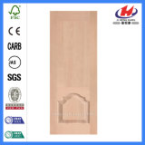 O laminado de MDF Interior moldado HDF Brich folheado de pele (JHK-008-2 Porta)