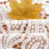 Tessuto lucido del merletto del tessuto africano del merletto del poliestere
