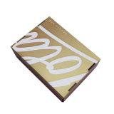 Rectángulo de empaquetado plegable de lujo de encargo del regalo del papel de cartulina acanalada de Kraft con la impresión de la insignia