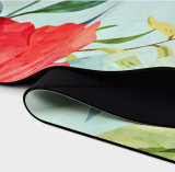 Stuoia su ordinazione di yoga della gomma naturale di stampa di colore completo