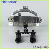 lupas dentales 6.0X para la lupa médica LED de intensidad alta Hesperus ligero de la lupa 6 X de Galileo
