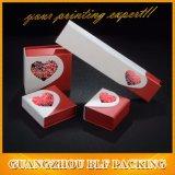 Cubierta de papel tipo corazón Joyería Anillo Caja de regalo