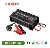 Cargador del vehículo del cargador de batería de coche del cargador de batería de coche de Samrt 24V 10A