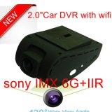 Новый черный ящик черточки автомобиля 2.0inch полный HD1080p с WiFi для мобильного телефона, автомобиля DVR 5.0mega Сони, камеры автомобиля ночного видения