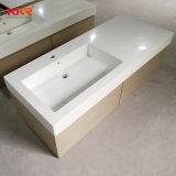 Washbasin de pedra de mármore branco para a decoração do banheiro