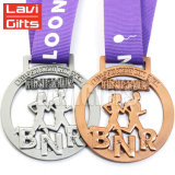 Médaille attrayante faite sur commande de concurrence de récompense de Taekwondo de sport d'argent d'antiquité de modèle