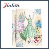 Frauen-Entwurf gedrucktes kundenspezifisches Firmenzeichen bildete billig Papierkleid-Beutel