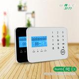 Кнопочная панель сигнал тревоги обеспеченностью беспроволочного взломщика GSM касания LCD и PSTN домашний