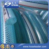 Boyau tressé de l'eau de boyau de jardin de PVC de fibre molle et flexible